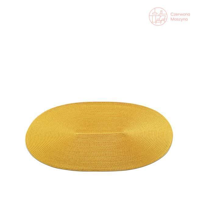 Podkładka na stół Authentics Dot owalna, żółta OU