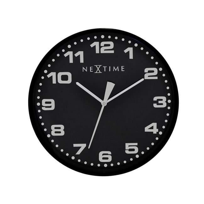 Zegar ścienny NeXtime Dash Ø 35 cm, czarny