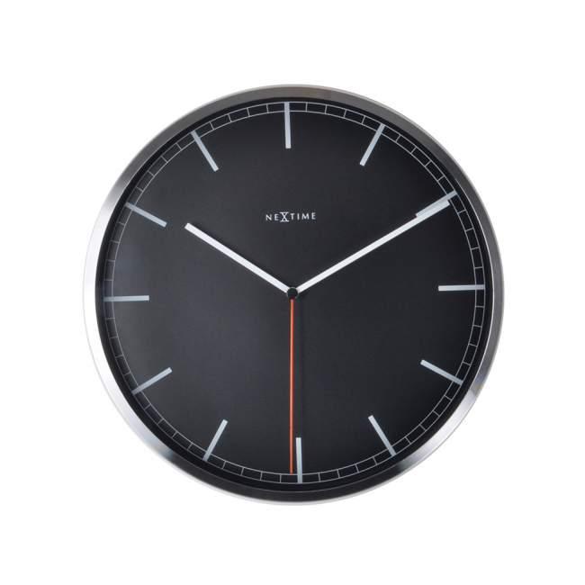 Zegar ścienny NeXtime Company Ø 35 cm, czarny