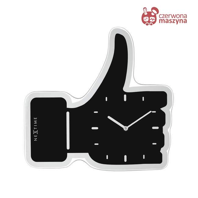 Zegar ścienny NeXtime Thumbs Up 42 cm, czarny