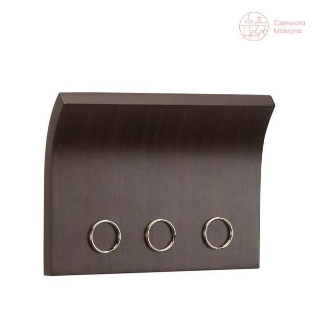 Wieszak na klucze i półka na listy Umbra Magnetter, espresso