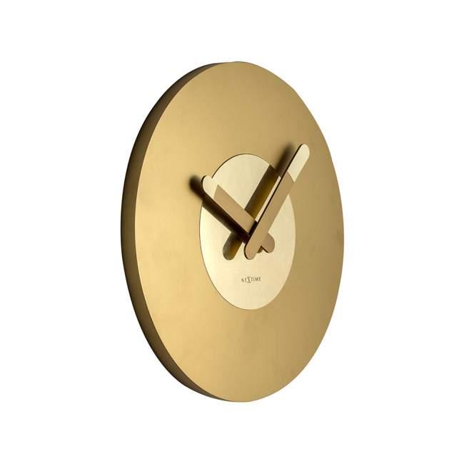 Zegar ścienny NeXtime In Touch Ø 39,5 cm, złoty