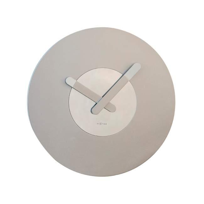 Zegar ścienny NeXtime In Touch Ø 39,5 cm, srebrny