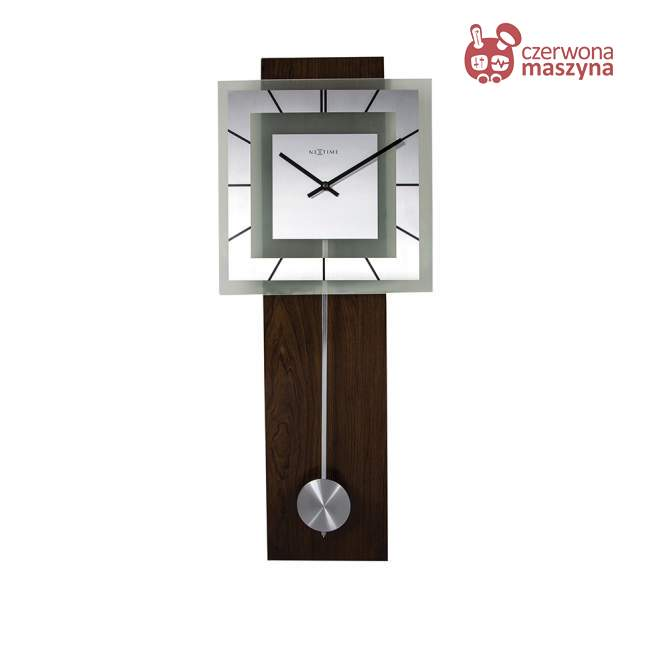 Zegar ścienny NeXtime Retro Pendulum kwadratowy