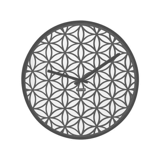Zegar ścienny NeXtime Bella Mirror Ø 50 cm, czarny