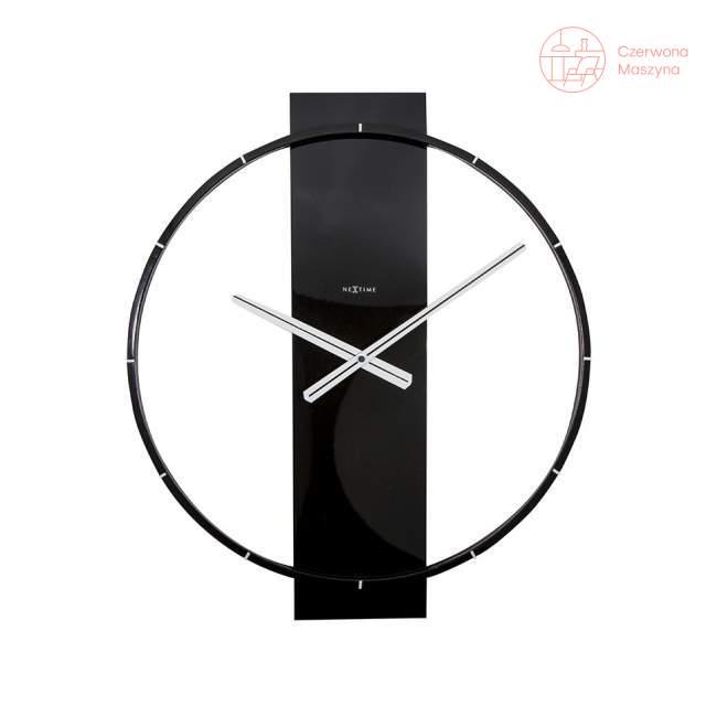 Zegar ścienny NeXtime Carl czarny