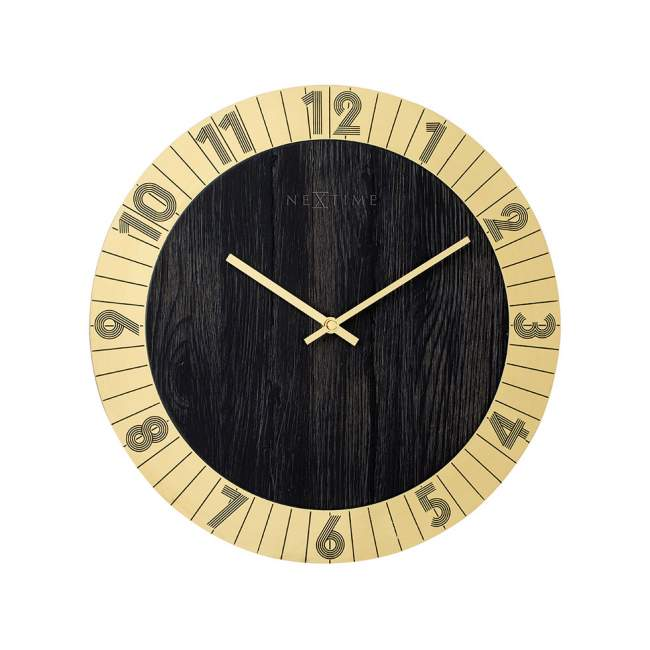 Zegar ścienny NeXtime Flare Ø 35 cm, złoty