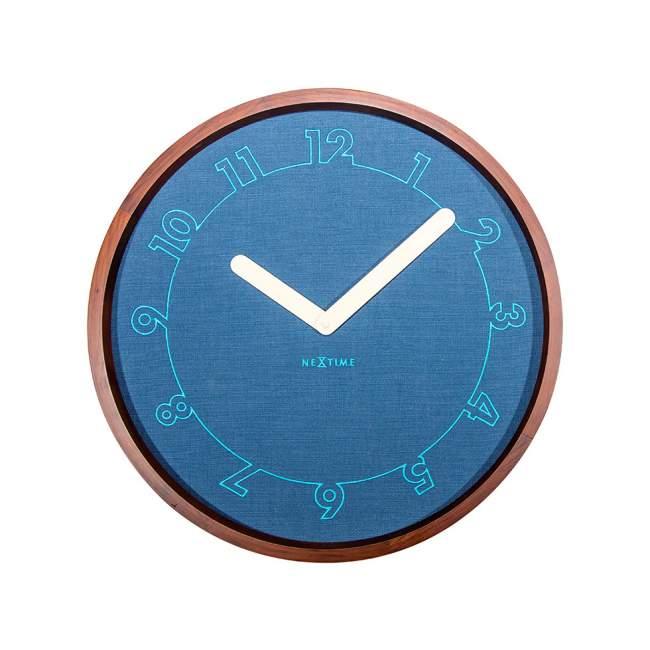 Zegar ścienny NeXtime Calmest Ø 50 cm, granatowy