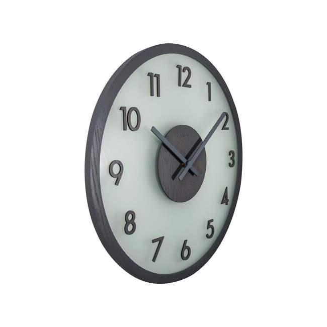 Zegar ścienny NeXtime Frosted Wood Ø 50 cm, szary