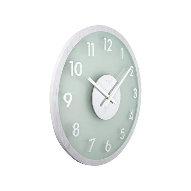 Zegar ścienny NeXtime Frosted Wood Ø 50 cm, morski