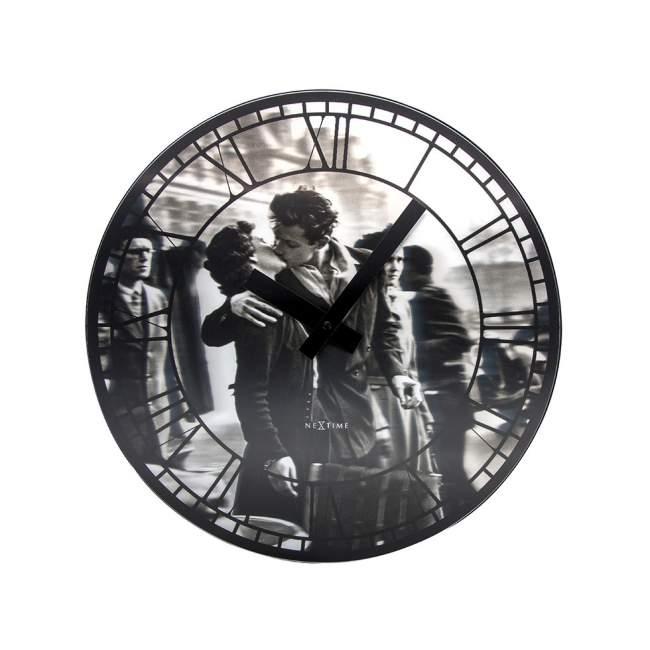 Zegar ścienny NeXtime Kiss me in Paris Ø 39,5 cm