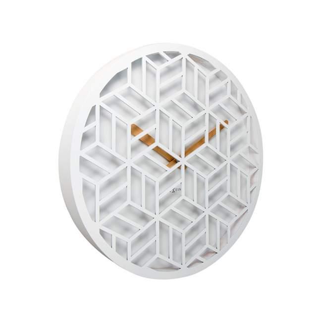 Zegar ścienny NeXtime Discrete Ø 36 cm, biały