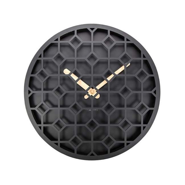 Zegar ścienny NeXtime Discrete Ø 36 cm, czarny