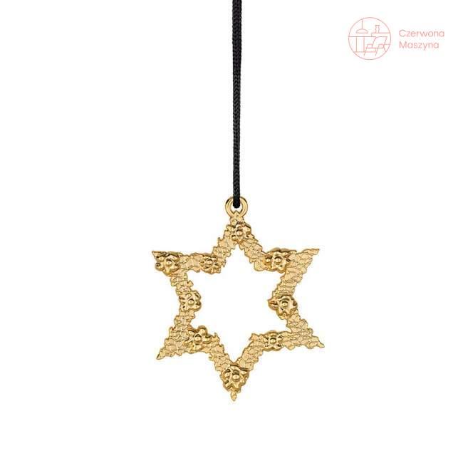 Zawieszka gwiazda Rosendahl Karen Blixen h 7 cm, złota