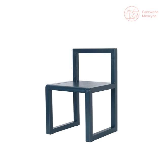 Krzesło ferm LIVING Little Architect, ciemnoniebieskie
