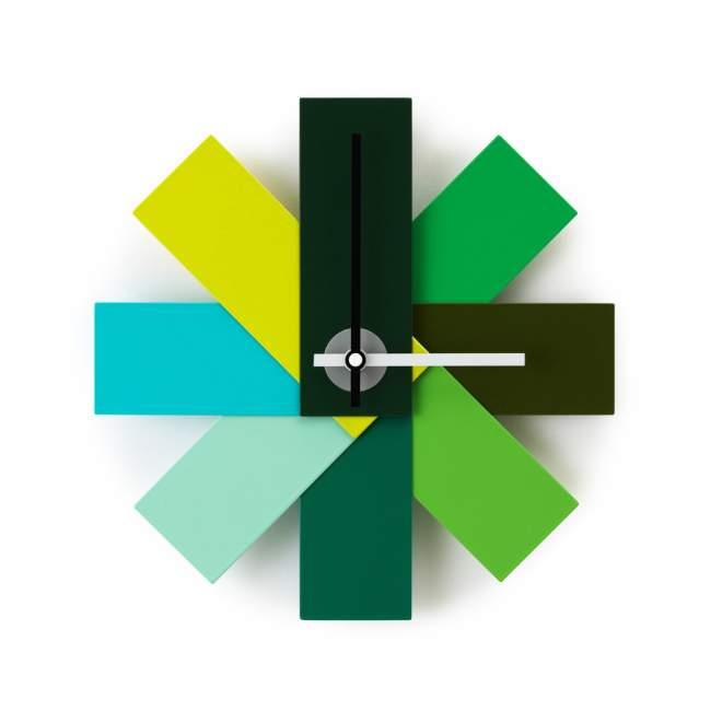 Zegar ścienny Normann Copenhagen Watch me Ø 28,5 cm, zielony