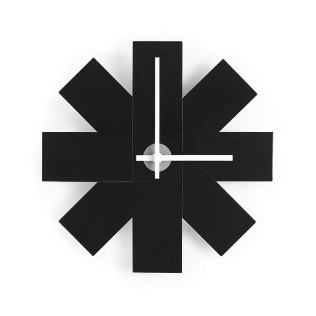 Zegar ścienny Normann Copenhagen Watch me Ø 28,5 cm, czarny