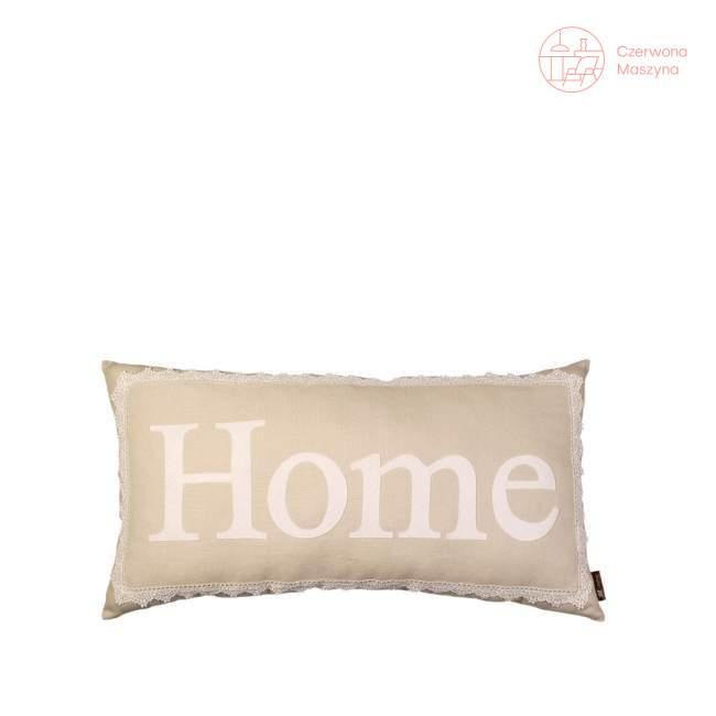 Poduszka Lilyshop Home z koronką, beżowa
