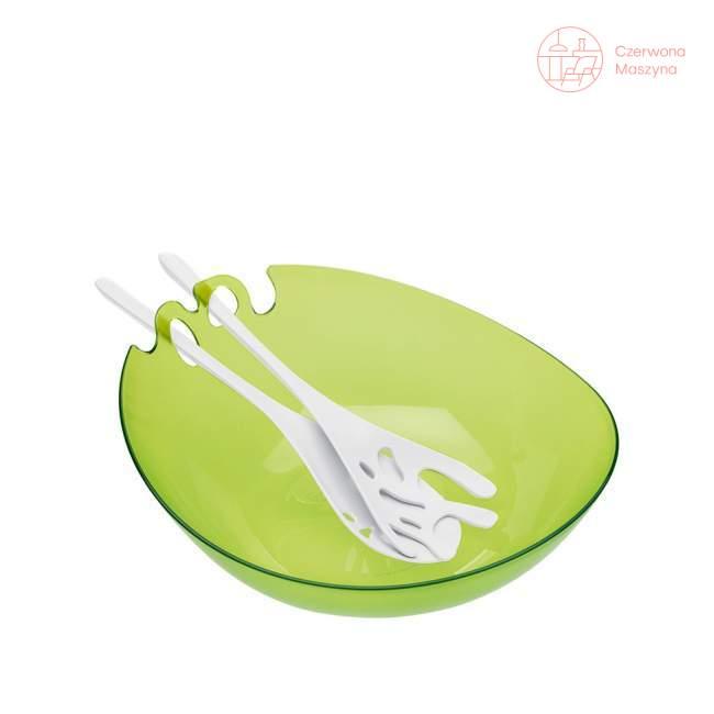 Miska do sałaty z łyżkami Koziol Shadow 3,5 l, zielona