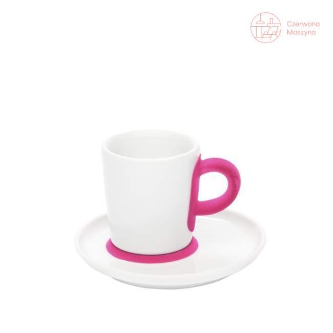 Filiżanka do espresso ze spodkiem Kahla touch! FIVE SENSES pink 90 ml