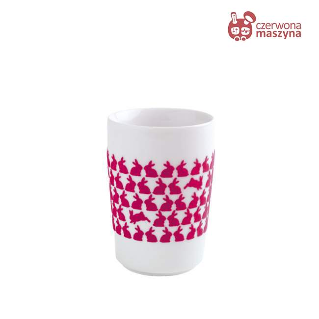 Kubek Kahla touch! FIVE SENSES Spring Wielkanocny Króliczek 350 ml, pink