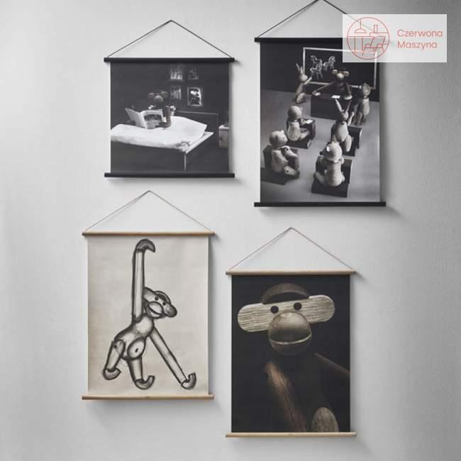 Plakat Kay Bojesen Małpka z ksiażką 40 x 40 cm