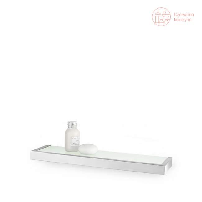 Półka łazienkowa szklana Zack Linea 46,5 cm, szczotkowana