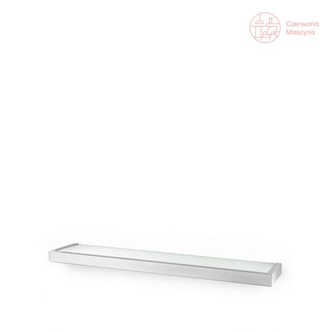 Półka łazienkowa szklana Zack Linea 61,5 cm, szczotkowana
