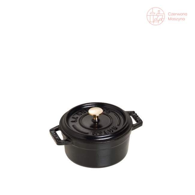 Mini garnek żeliwny okrągły Staub 250 ml, czarny