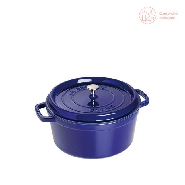 Garnek żeliwny okrągły Staub Niebieski, 2.6 L