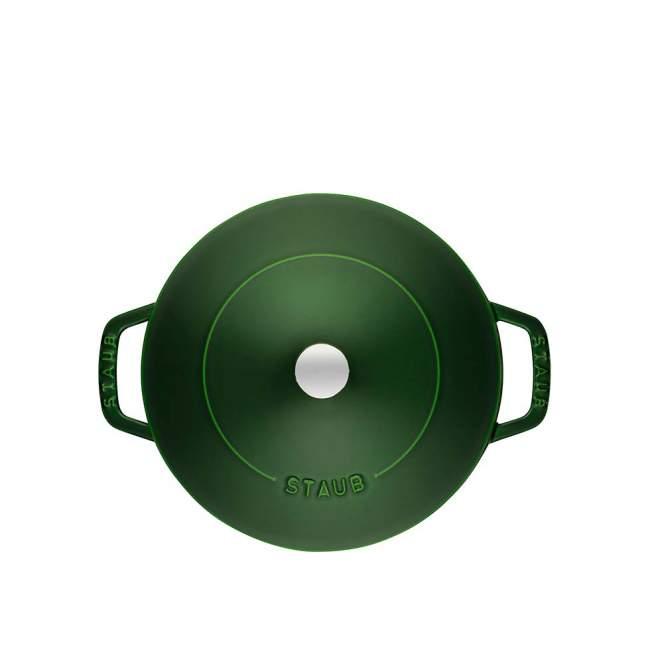 Głęboka patelnia do duszenia z pokrywką Staub Ø 24 cm, Zielony