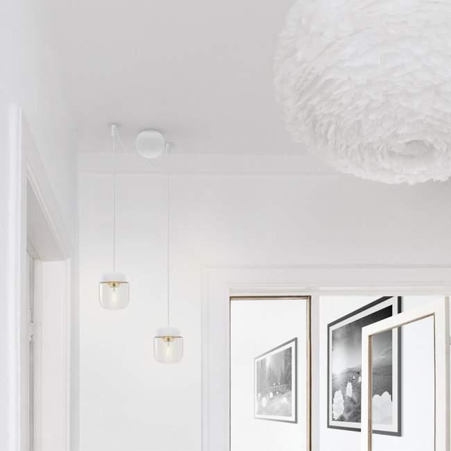 Zawieszenie do lamp Umage Cannonball Cluster (dawniej Vita Copenhagen) podwójne, białe