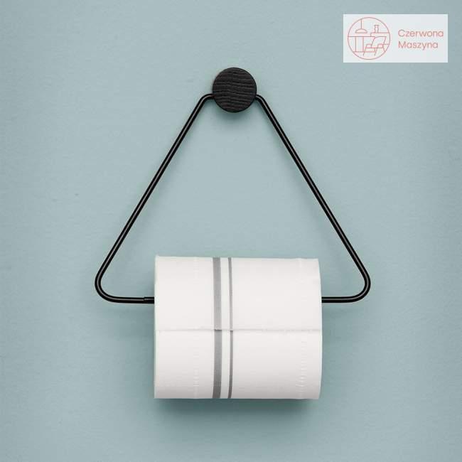 Uchwyt na papier toaletowy ferm LIVING, czarny