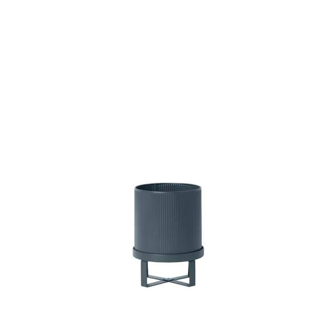 Osłonka na doniczkę ferm LIVING Bau Ø 18 cm, stalowy niebieski