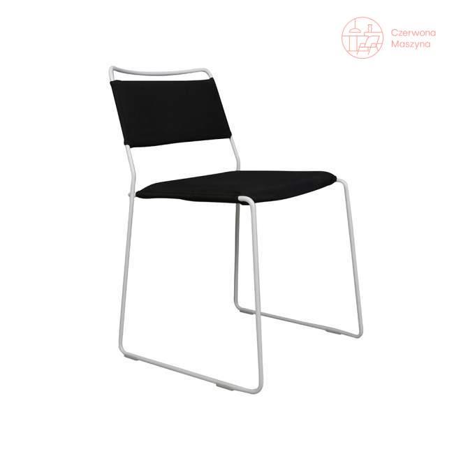 Krzesło OK Design One Wire, białe, czarna poduszka