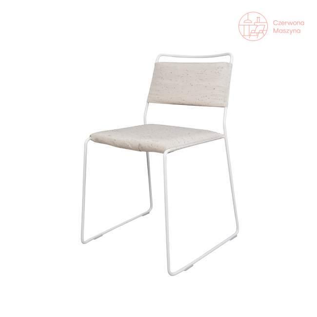 Krzesło OK Design One Wire, białe, biała poduszka