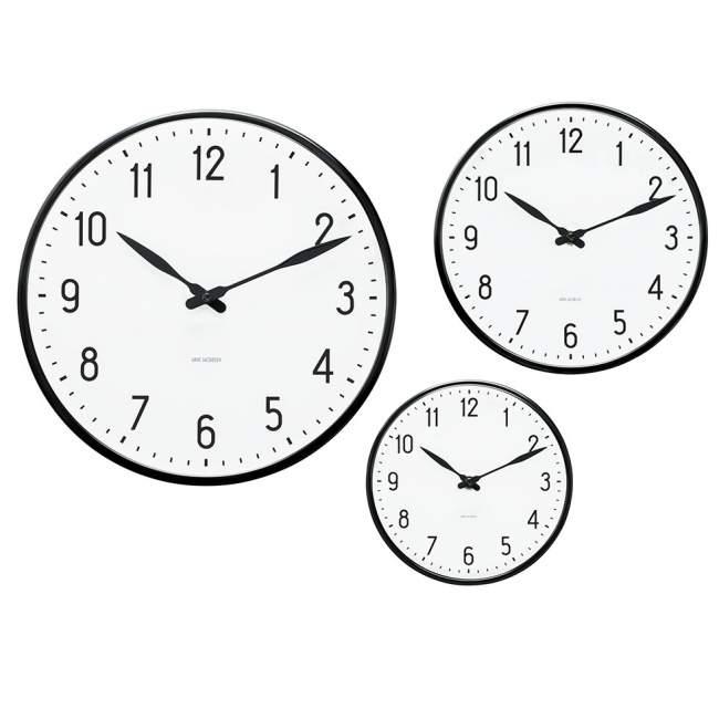 Zegar ścienny Rosendahl Station Arne Jacobsen Ø 48 cm