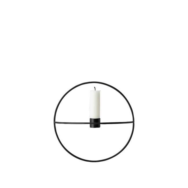 Świecznik Menu POV okrągły Ø 20 cm, czarny