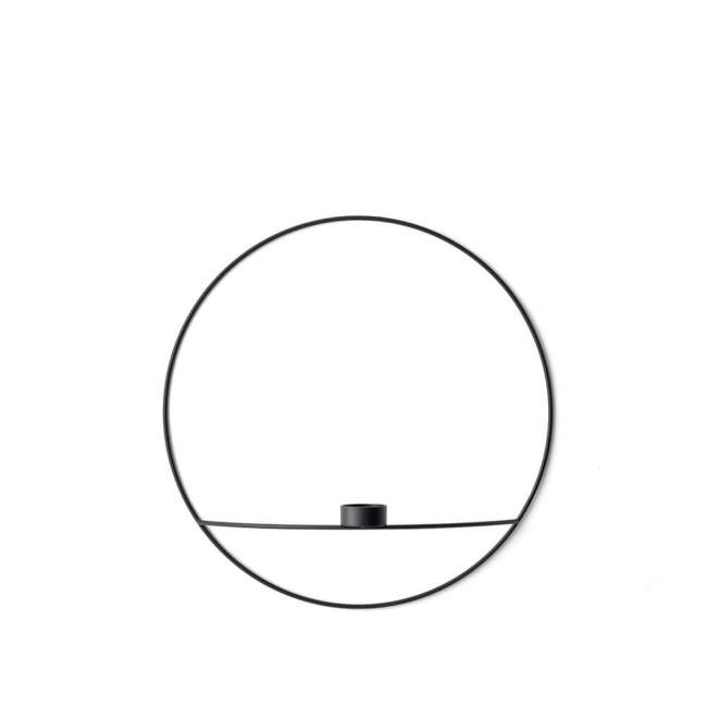 Świecznik na tealight Menu POV okrągły Ø 44 cm, czarny