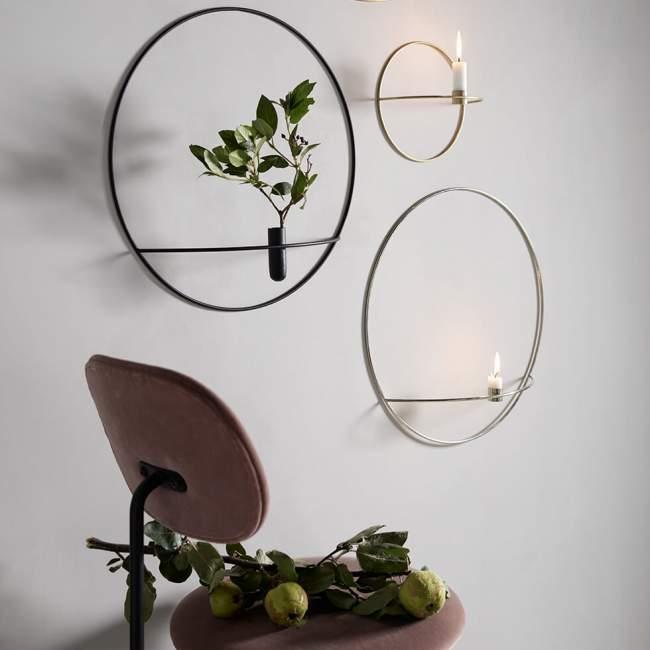 Świecznik na tealight Menu POV okrągły Ø 44 cm, złoty
