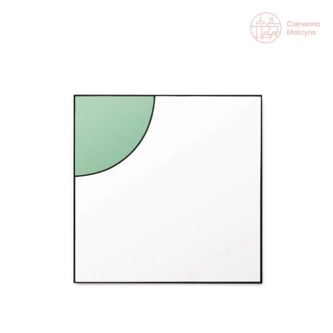 Lustro wiszące Tivoli Mirage 50 x 50 cm, zielone