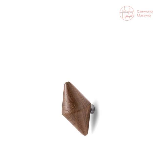2 Haczyki Tivoli Quin 7,5 cm, ciemne drewno