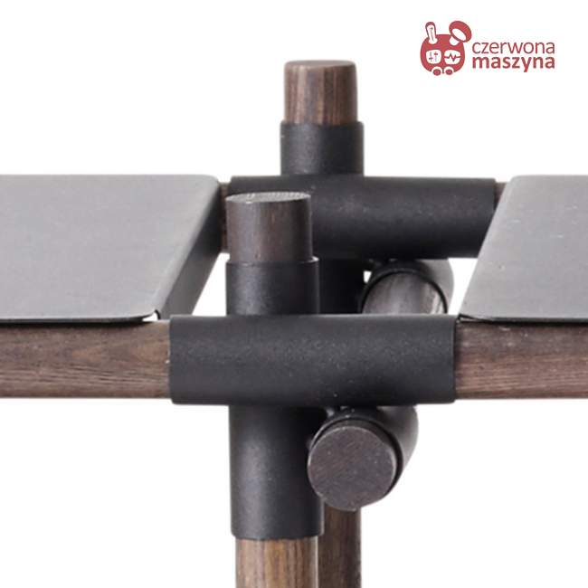 Regał systemowy Menu Stick 3x2, czarny, ciemny jesion