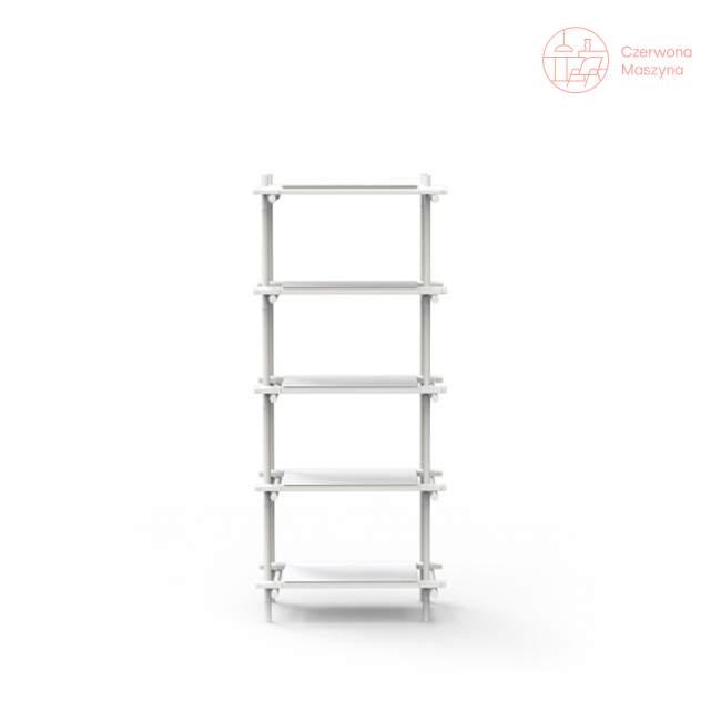 Regał systemowy Menu Stick 1x5, biały, biały jesion