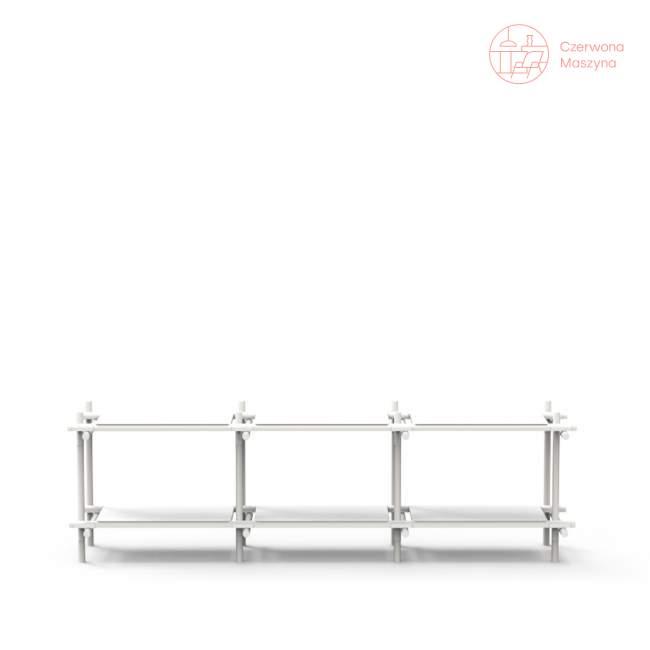Regał systemowy Menu Stick 3x2, biały, biały jesion