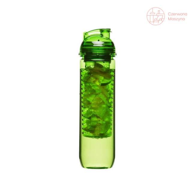 Butelka z pojemnikiem na owoce/lód Sagaform Fresh 0,8 l, zielona