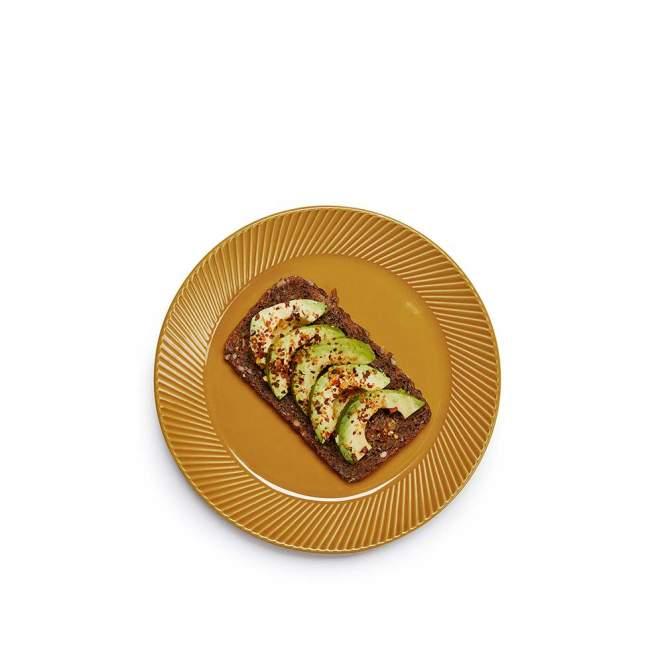 Talerz deserowy Sagaform Coffee Ø 20 cm, żółty