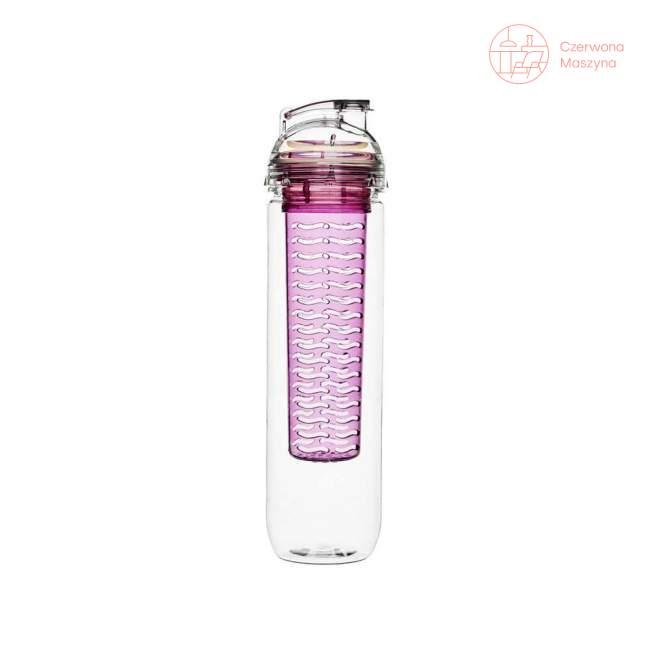 Butelka z pojemnikiem na owoce / lód Sagaform Fresh 0,8 l pink