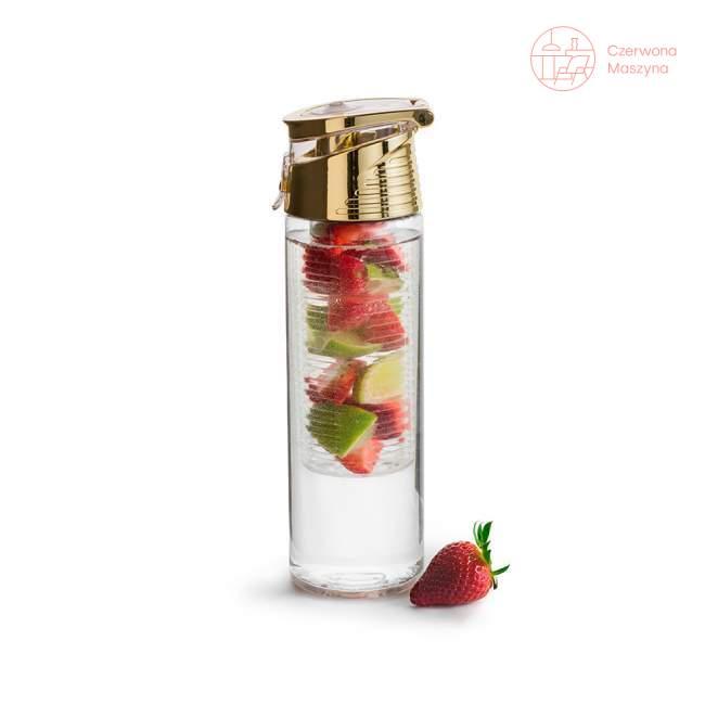 Bidon z pojemnikiem na owoce Sagaform Fresh 750 ml, złoty