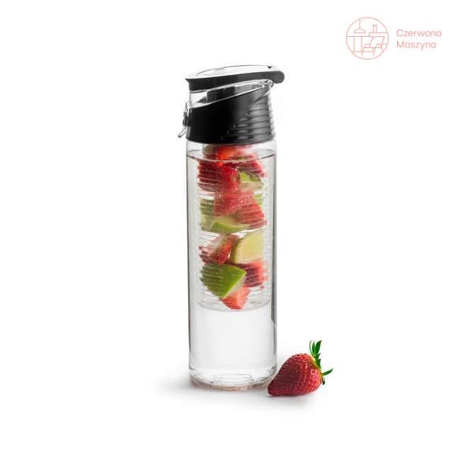 Bidon z pojemnikiem na owoce Sagaform Fresh 750 ml, czarny